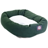 "Majestic 40"" Green & Sherpa Bagel Bed By Majestic Pet Products"