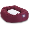"Majestic 40"" Burgundy & Sherpa Bagel Bed By Majestic Pet Products"