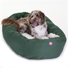 "Majestic 52"" Green & Sherpa Bagel Bed By Majestic Pet Products"