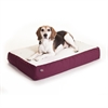 24x34 Burgundy Orthopedic Double Pet Bed By Pet Products-Medium