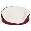 28x21 Burgundy Lounger Pet Bed By Pet Products-Medium