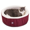 "16"" Burgundy Cat Cuddler Pet Bed By Pet Products"