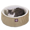 "16"" Khaki Cat Cuddler Pet Bed By Pet Products"