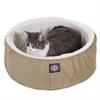 "Majestic 16"" Khaki Cat Cuddler Pet Bed By Majestic Pet Products"