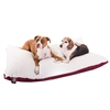 42x60 Burgundy Rectangle Pet Bed By Pet Products-Extra Large