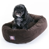 "24"" Chocolate Suede Bagel Dog Bed By Pet Products"