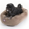 "24"" Stone Suede Bagel Dog Bed By Pet Products"