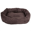 "32"" Chocolate Suede Bagel Dog Bed By Pet Products"