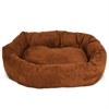 "32"" Rust Suede Bagel Dog Bed By Pet Products"