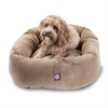 "32"" Stone Suede Bagel Dog Bed By Pet Products"