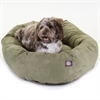 "Majestic 52"" Sage Suede Bagel Dog Bed By Majestic Pet Products"