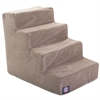 Majestic 4 Step Stone Suede Pet Stairs By Majestic Pet Products