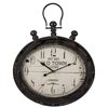 Cooper Classics Amanda Clock, Distressed Brown and Black Finish