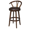 "Duke 30"" Swivel Stool, Brown"