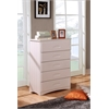 Five Drawer Chest in White