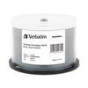 Verbatim Printable CD-R Discs, 700MB/80min, 52x, Spindle, White, 50/Pack