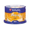 Verbatim DVD-R Discs, 4.7GB, 16x, Spindle, Silver, 50/Pack