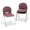 "Virco IQ Series Stack Chair, 17-1/2"" Seat Height, Wine/Chrome, 4/Carton"