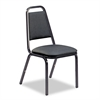 Virco 8926 Series Vinyl Upholstered Stack Chair, 18w x 22d x 34-1/2h, Black, 4/Carton