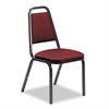 Virco 8926 Series Vinyl Upholstered Stack Chair, 18w x 22d x 34-1/2h, Wine/Black, 4/CT