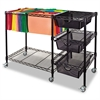 Vertiflex Mobile File Cart w/Drawers, 38w x 15 1/2d x 28h, Black
