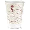 SOLO Cup Company Hot Cups, Symphony Design, 12oz, Beige, 50/Pack