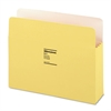 "Wilson Jones ColorLife 3 1/2"" Expansion Pocket, Straight Tab, Letter, Yellow, 25/Box"