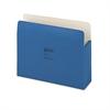 "Wilson Jones ColorLife 5 1/4"" Expansion Pocket, Straight Tab, Letter, Dark Blue, 10/Box"