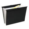 Wilson Jones Slide-Bar Expanding Pocket File, 13 Pockets, Poly, Letter, Black