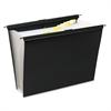 Slide-Bar Expanding Pocket File, 13 Pockets, Poly, Letter, Black