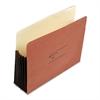 "Wilson Jones 7"" Expansion Pocket, Straight, Letter, Redrope, 10/Box"