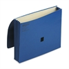"Wilson Jones ColorLife 3"" Expansion Wallets with Velcro Gripper, Letter, Dark Blue"