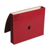 """Wilson Jones ColorLife 3"""" Expansion Wallets with Velcro Gripper, Letter, Red"""