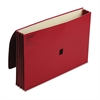 "Wilson Jones ColorLife 3"" Expansion Wallets with Velcro Gripper, Legal, Red"