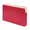 "Wilson Jones ColorLife 3 1/2"" Expansion File Pocket, Straight Tab, Legal, Red, 25/Box"