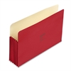 "Wilson Jones ColorLife 5 1/4"" Expansion File Pocket, Straight Tab, Legal, Red, 10/Box"