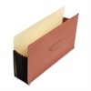 "7"" Expansion File Pocket, Straight, Legal, Redrope, 10/Box"