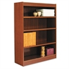 Alera Square Corner Wood Bookcase, Four-Shelf, 35-5/8w x 11-3/4d x 48h, Medium Cherry