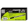 Jimnie Roller Ball Stick Gel Pen, Black Ink, Medium, 24/Box