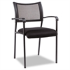 Alera Eikon Series Stacking Mesh Guest Chair, Black, 2/Carton