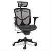 Alera Alera EQ Series Ergonomic Multifunction High-Back Mesh Chair, Black Base