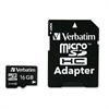 microSDHC Card w/Adapter, Class 4, 16GB
