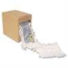 "Flash Forty Disposable Dustmop, Cotton, 5"", Natural"