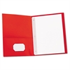 Two-Pocket Portfolios w/Tang Fasteners, 11 x 8-1/2, Red, 25/Box