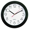 "Universal Round Wall Clock, 9 3/4"", Black"