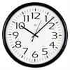 Universal Round Wall Clock, Black, 12""