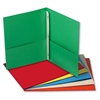 Two-Pocket Portfolios w/Tang Fasteners, 11 x 8-1/2, Assorted, 25/Box