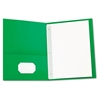 Universal Two-Pocket Portfolios w/Tang Fasteners, 11 x 8-1/2, Green, 25/Box