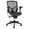 Alera Alera EQ Series Ergonomic Multifunction Mid-Back Mesh Chair, Black Base