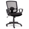 Alera Alera Etros Series Mesh Mid-Back Swivel/Tilt Chair, Black